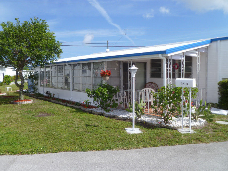 Maison mobile en floride hallandale floride for A louer en floride maison mobile